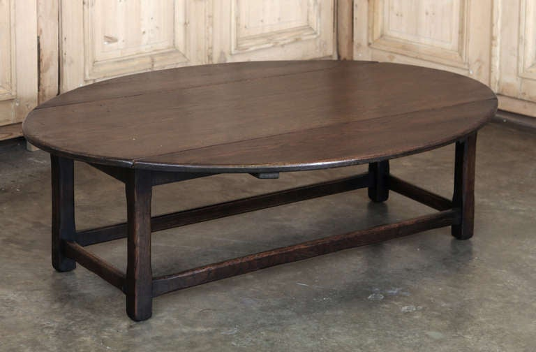 Antique Rustic Drop Leaf Coffee Table 2