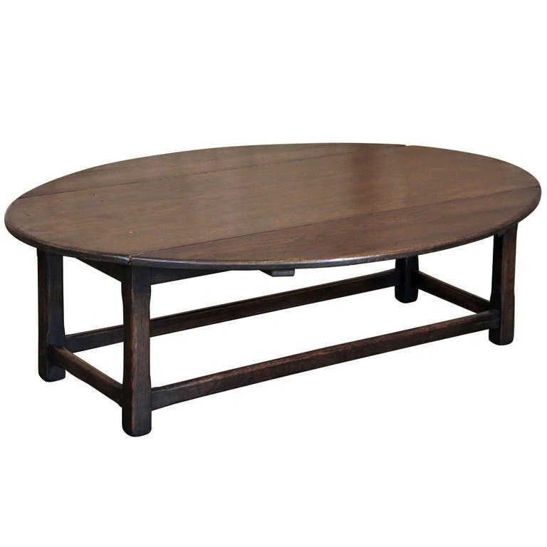antique rustic drop leaf coffee table at 1stdibs
