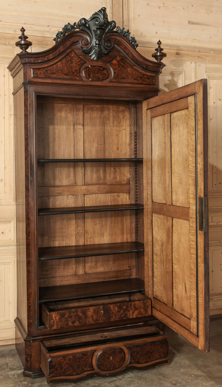 antique french napoleon iii period armoire at 1stdibs. Black Bedroom Furniture Sets. Home Design Ideas