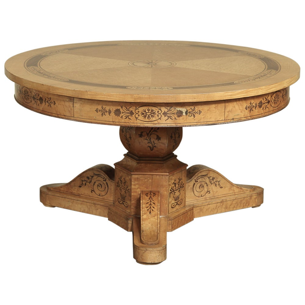 Inlaid charles x coffee table circa 1810 at 1stdibs for X coffee tables