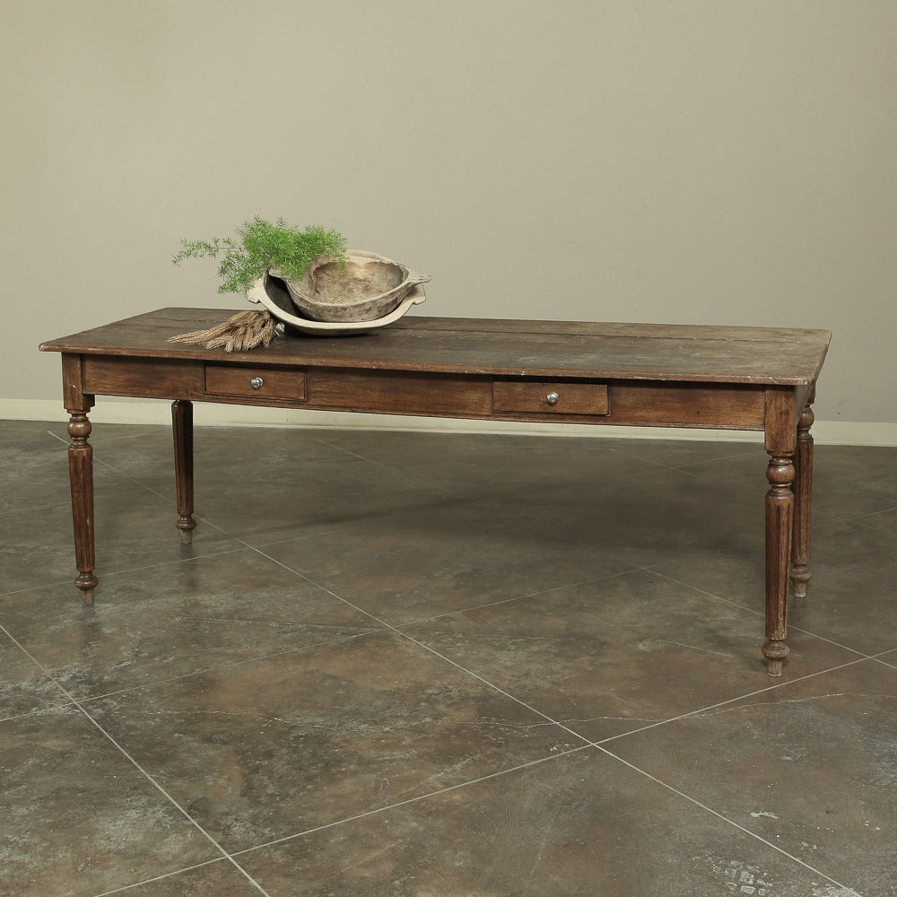 19th Century Rustic Country French Farm Table From Normandy 2