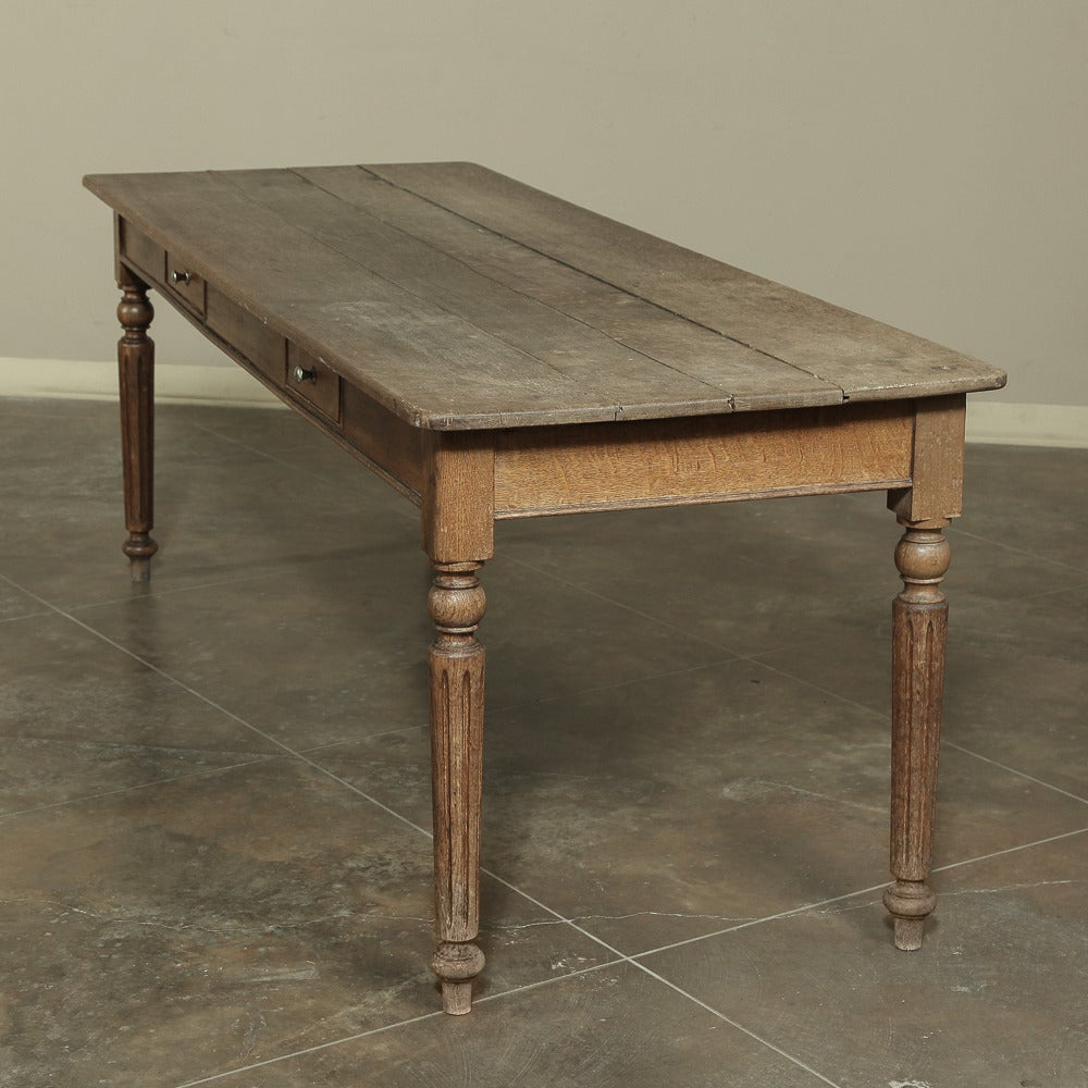 19th Century Rustic Country French Farm Table from Normandy  For Sale 1