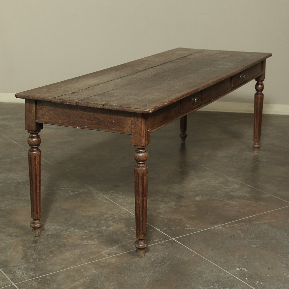 19th Century Rustic Country French Farm Table from Normandy  For Sale 2