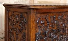 Antique Henri II Walnut Trunk image 3