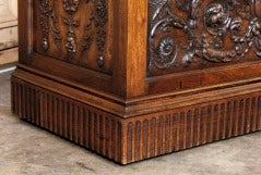 Antique Henri II Walnut Trunk thumbnail 4