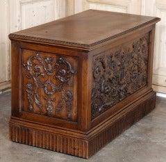 Antique Henri II Walnut Trunk image 6