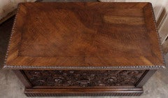 Antique Henri II Walnut Trunk thumbnail 8