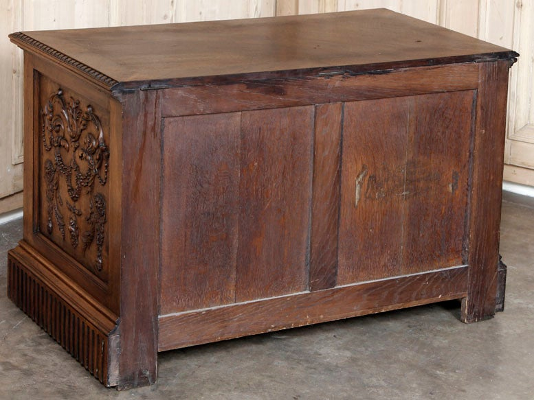 Antique Henri II Walnut Trunk image 9