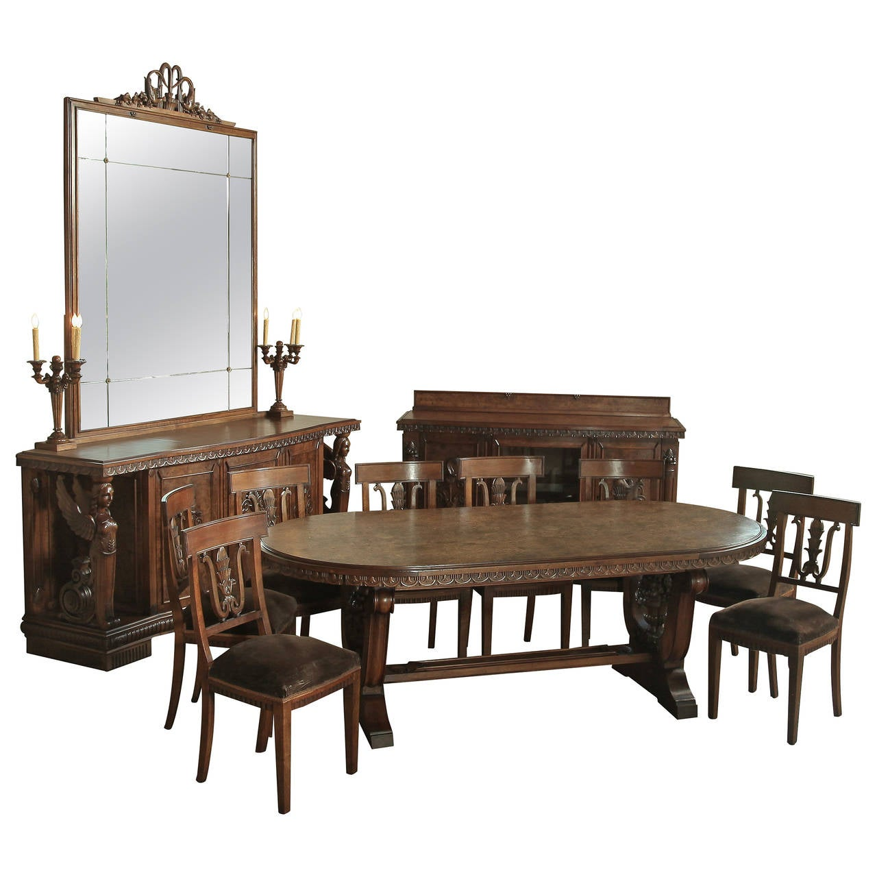 vintage neoclassical dining room set for sale at 1stdibs