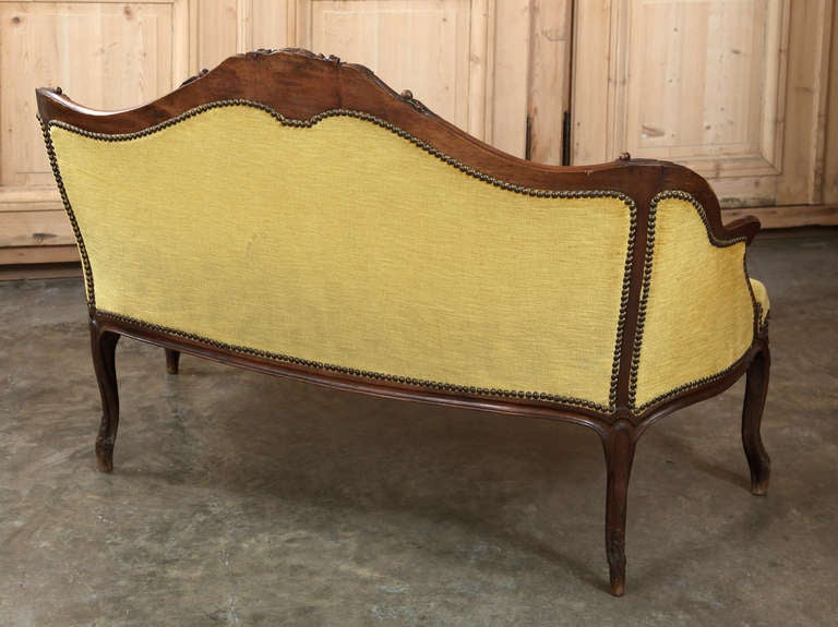 19th century french walnut louis xv canape saturday sale for Canape for sale