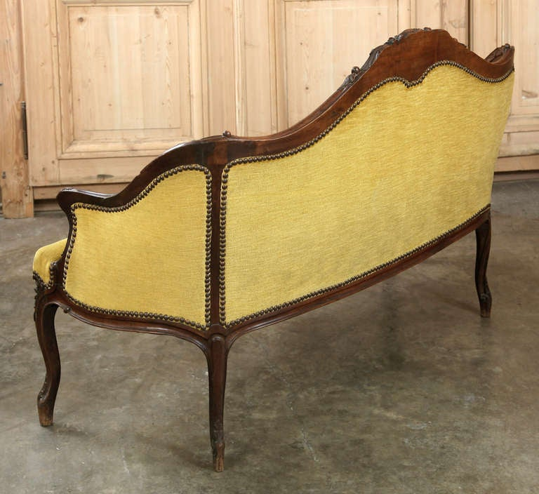 Antique French Louis Xv Canape At 1stdibs