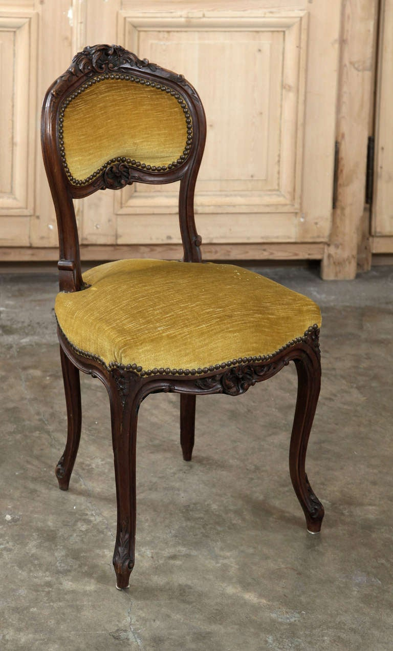 Pair Antique French Louis Xv Salon Chairs At 1stdibs