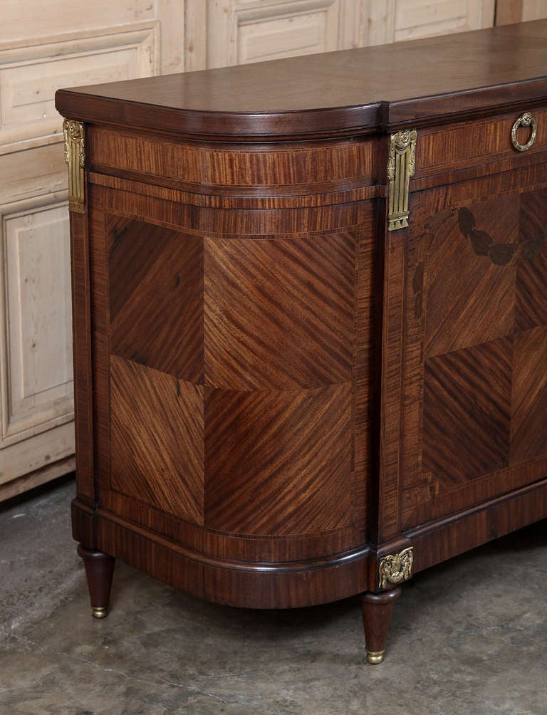 antique louis xvi marquetry buffet at 1stdibs. Black Bedroom Furniture Sets. Home Design Ideas