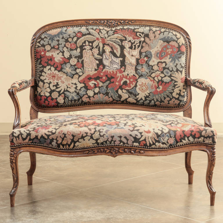 Antique Tapestry Sofa: Antique French Louis XV Tapestry Canapé At 1stdibs