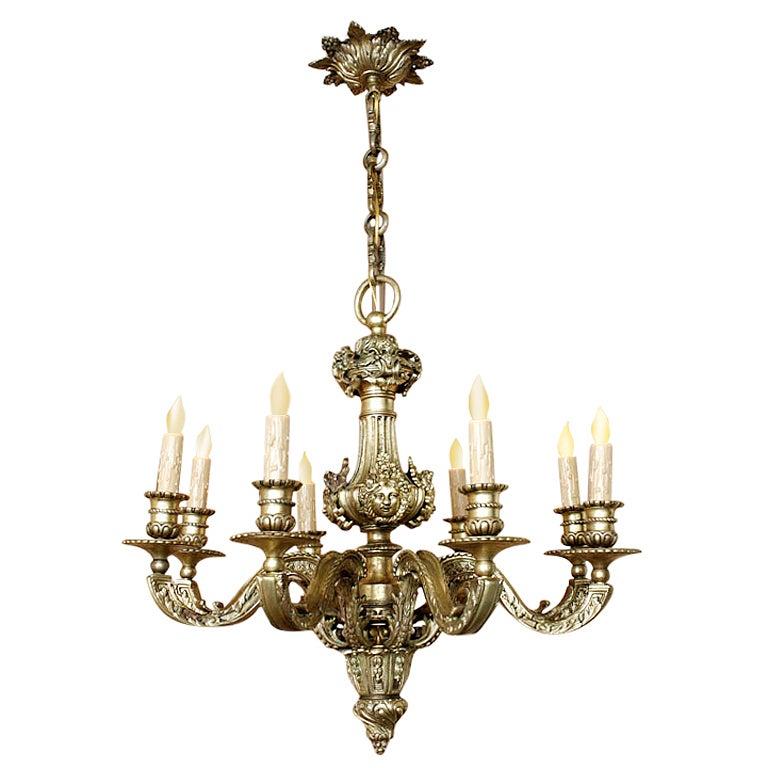 Antique Louis XIV Bronze Chandelier