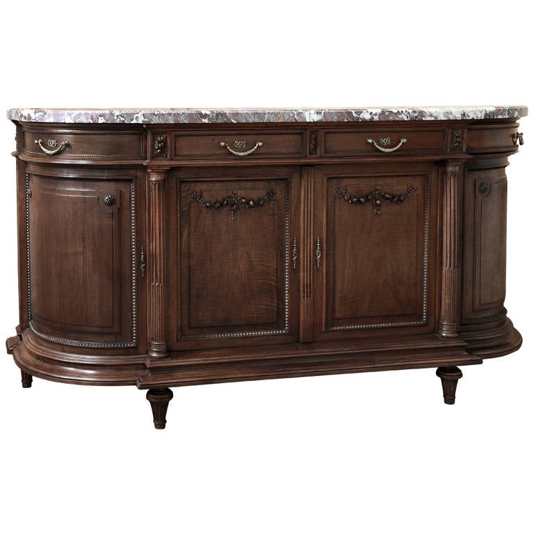 antique french louis xvi marble top buffet at 1stdibs. Black Bedroom Furniture Sets. Home Design Ideas