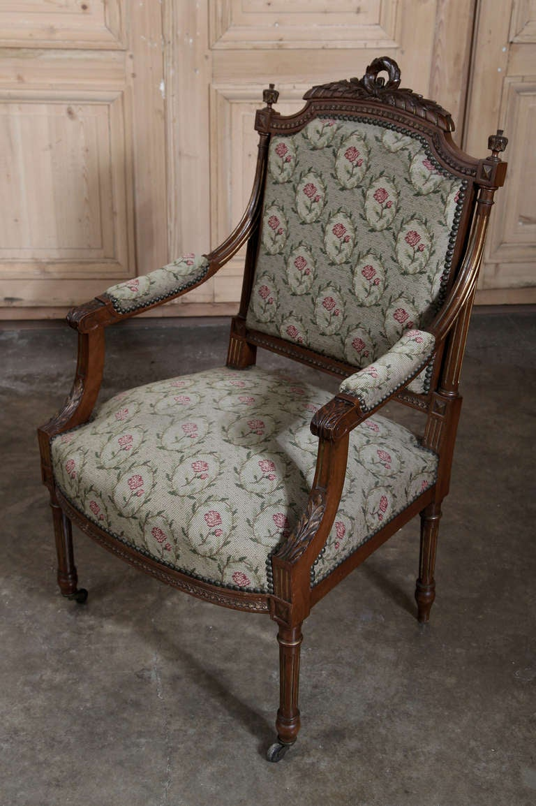 pair antique french louis xvi armchairs at 1stdibs