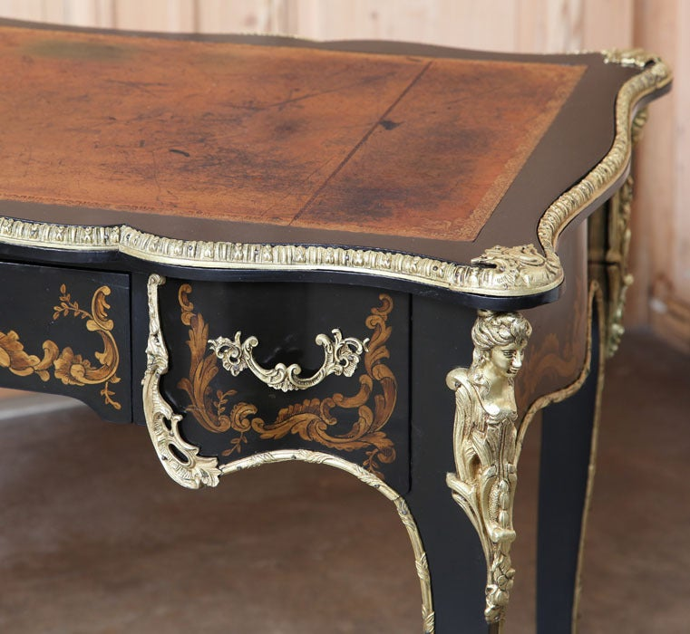 Antique French Louis XV Painted Desk For Sale 5