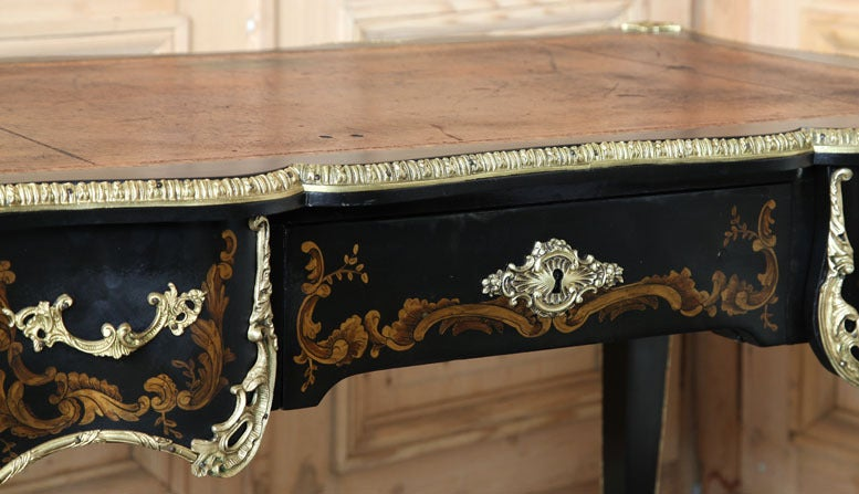 Antique French Louis XV Painted Desk For Sale 3