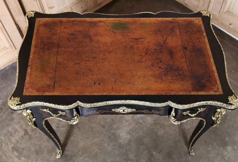 Antique French Louis XV Painted Desk For Sale 4