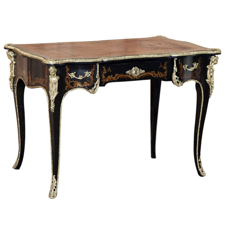 Antique French Louis XV Painted Desk For Sale