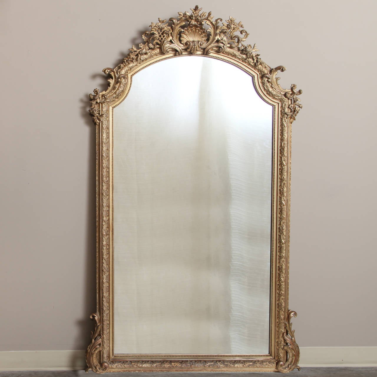 French Regence Gilded Mirror At 1stdibs