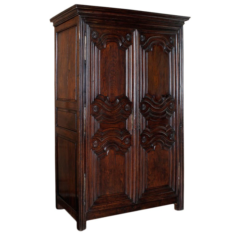 antique country french armoire at 1stdibs. Black Bedroom Furniture Sets. Home Design Ideas