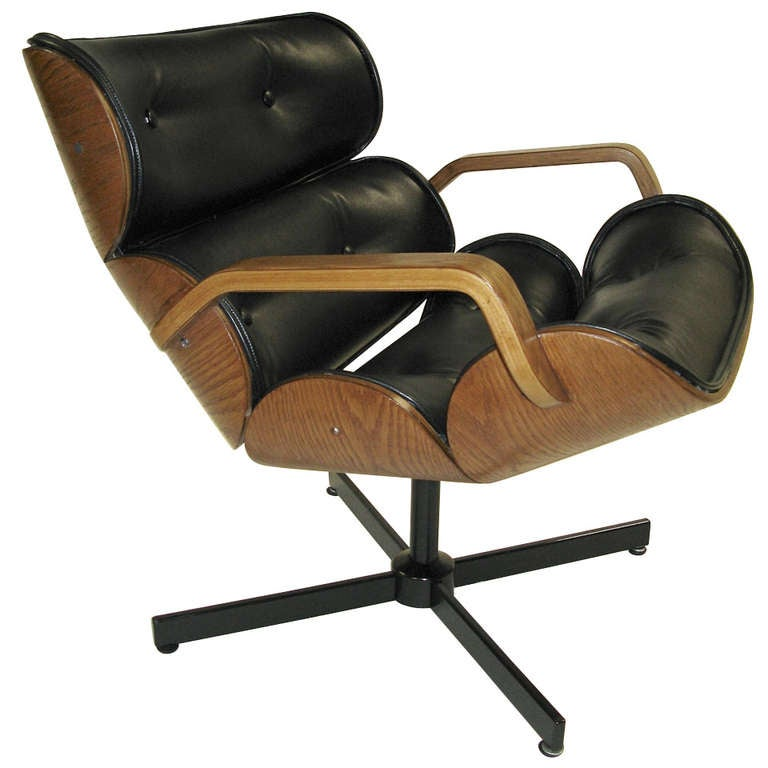 Rare Plycraft Small Lounge Chair at 1stdibs