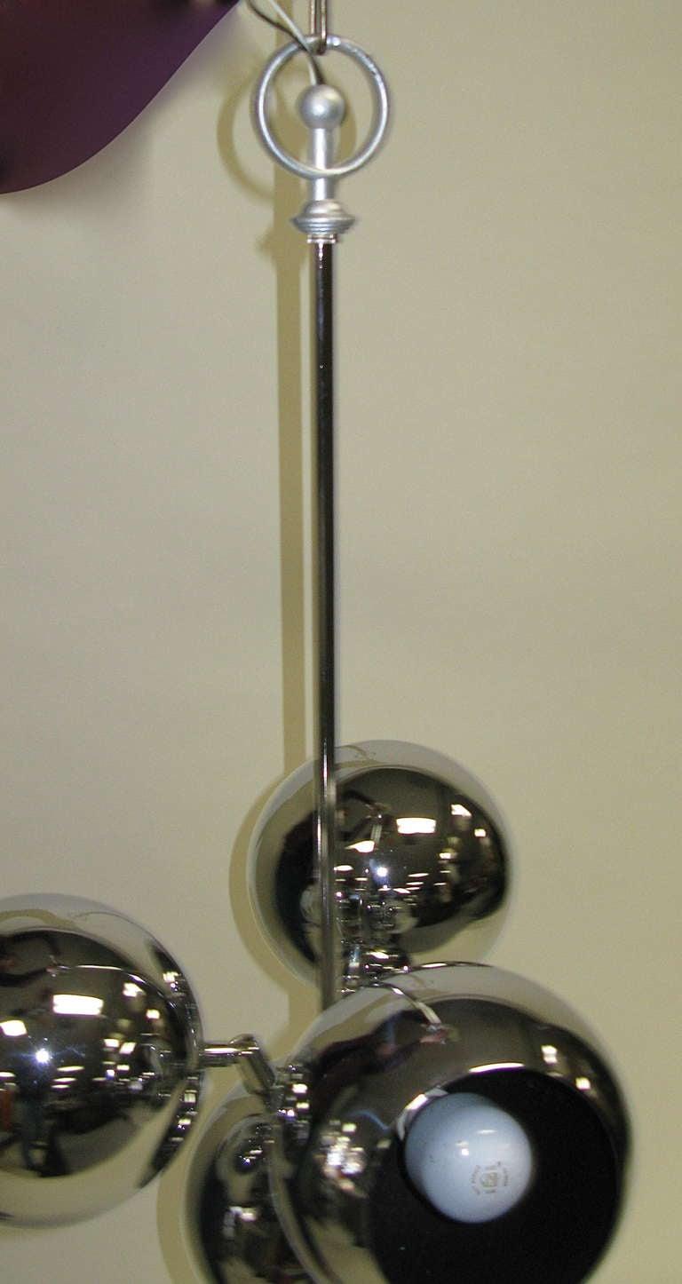 1960 Novelty Lighting : 1960 Sonneman-Style Chrome Ball Hanging Light at 1stdibs
