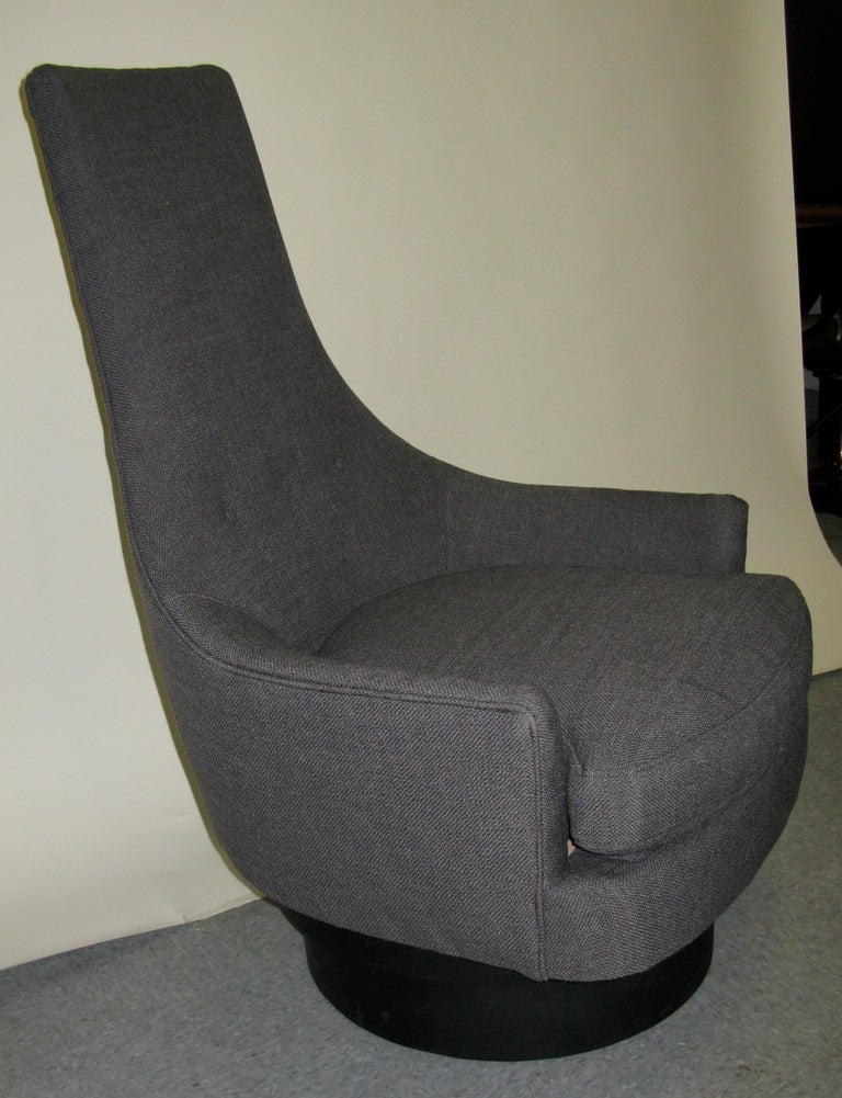 1950 Adrian Pearsall High Back Swivel Chair at 1stdibs