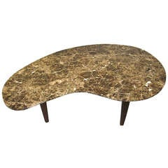 1960 Organic- Shaped Marble Coffee Table