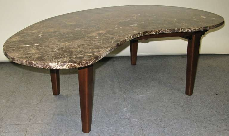 Stylish 1960 Organic Shaped Marble Coffee Table 3