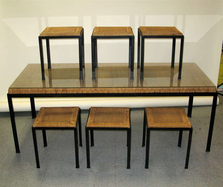 this 1960 danny fong ho dining set for tropical w 6 stools is no