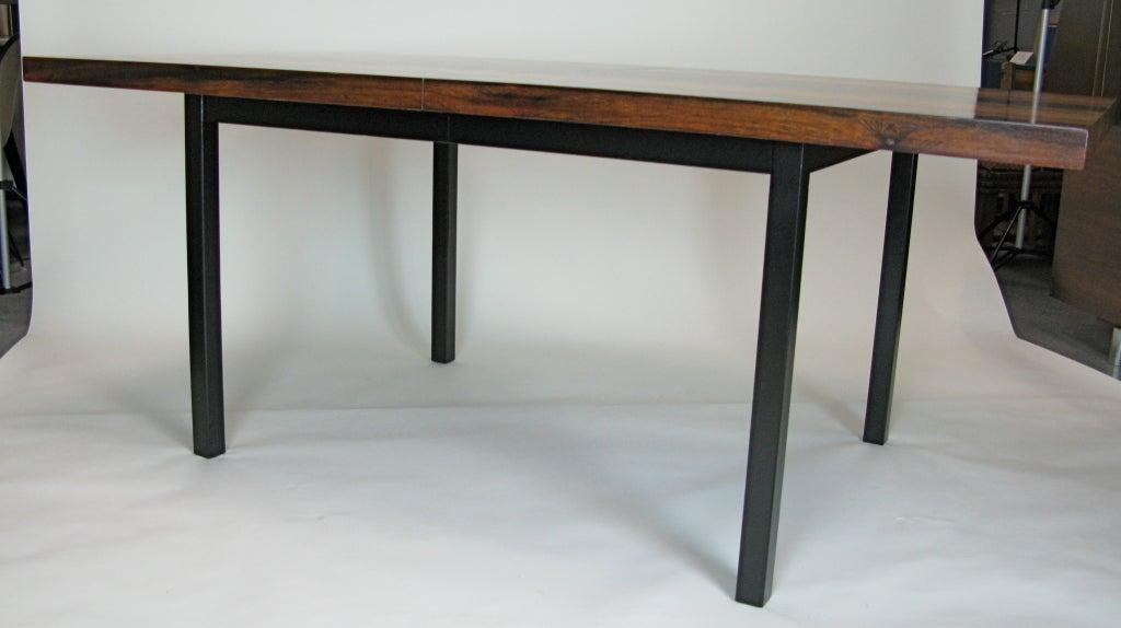 1960 Great Milo Baughman Multi Wood Dining Table Image 4