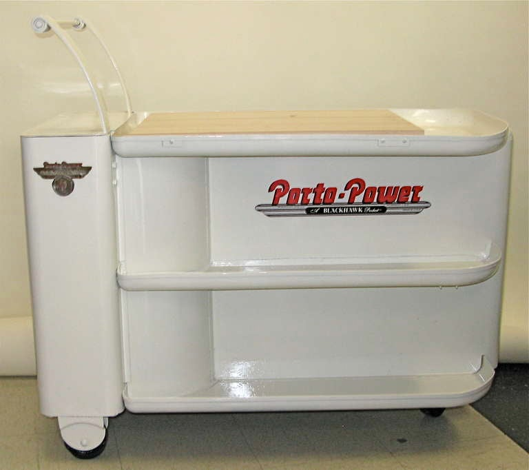 1940 blackhawk porto power industrial bar cart at 1stdibs