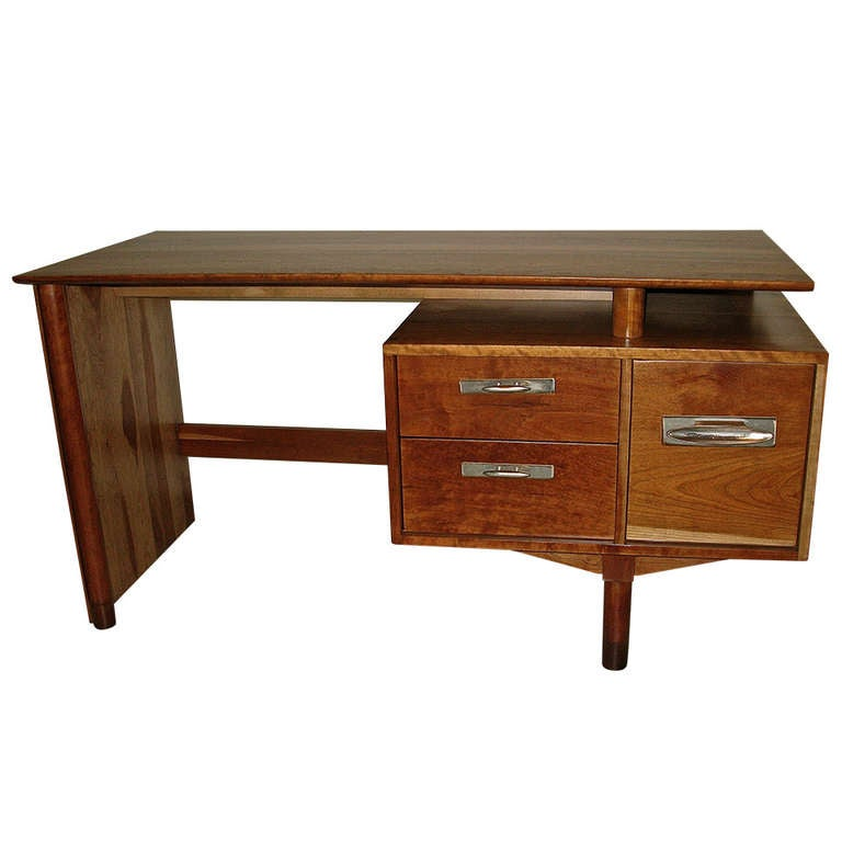 Amazing 1950 Willet Solid Cherry Desk With Exposed