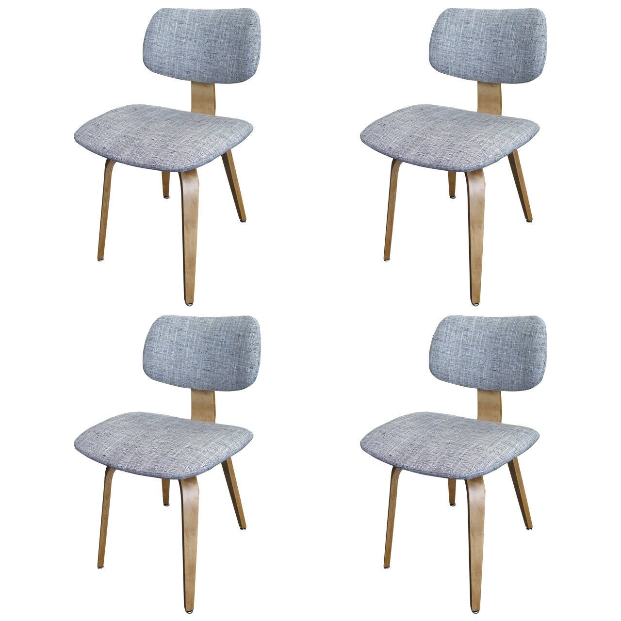 1950 set of four thonet plywood chairs at 1stdibs