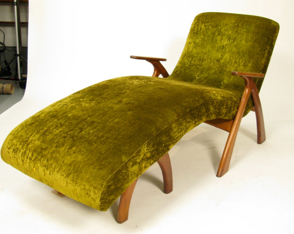 1950 unique studio made lounge at 1stdibs for 1950s chaise lounge