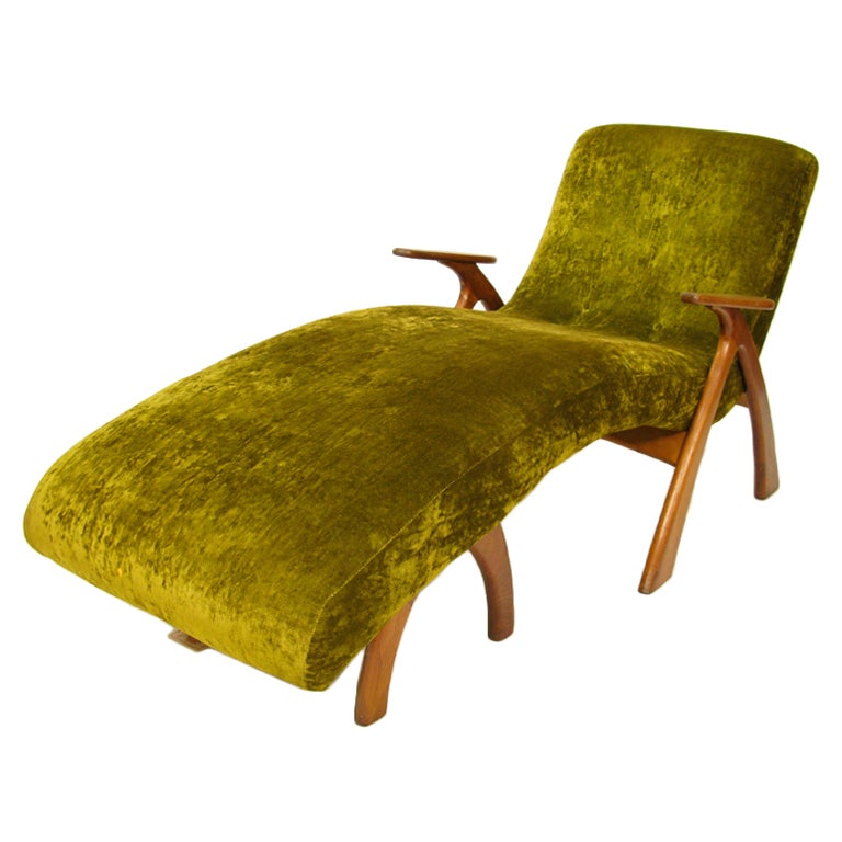 1950 unique studio made lounge at 1stdibs for 1950 chaise lounge
