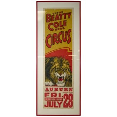 1930 Clyde Beatty-Cole Brothers Circus Poster