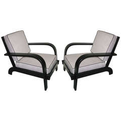 Pair of Dramatic Armchairs, Russel Wright, 1940