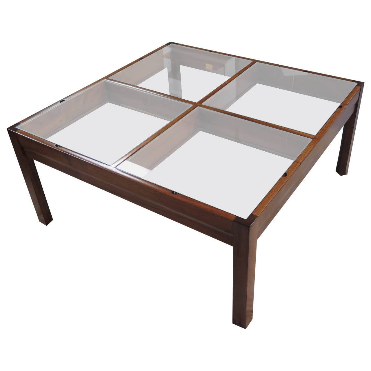 unusual display coffee table 1960 at 1stdibs. Black Bedroom Furniture Sets. Home Design Ideas