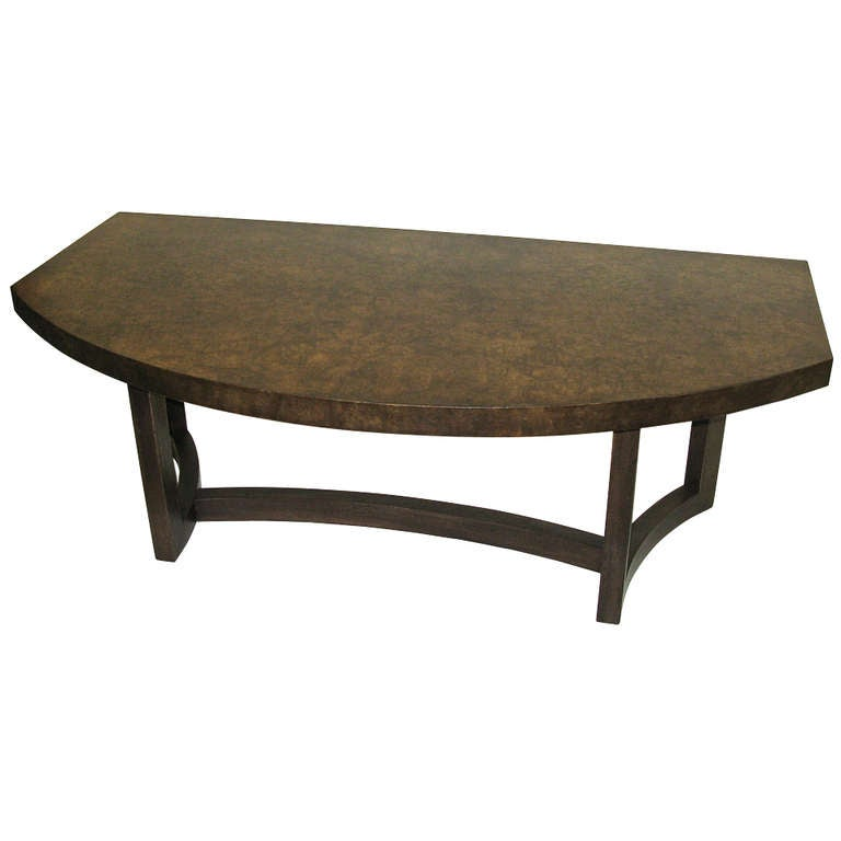 1950 Widdicomb Burl Wood Coffee Table At 1stdibs