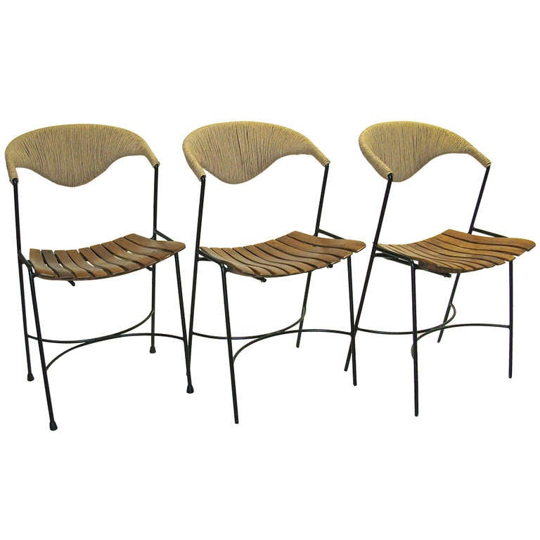 1950 Set Of 3 Chairs Arthur Umanoff At 1stdibs