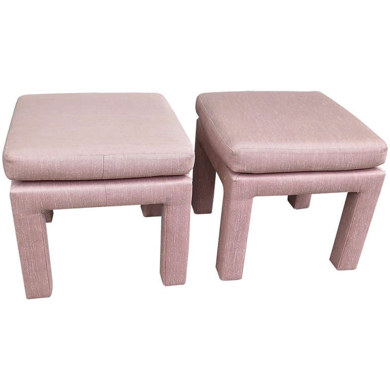 Pair Of Drexel Heritage Upholstered Ottomans 1960 At 1stdibs