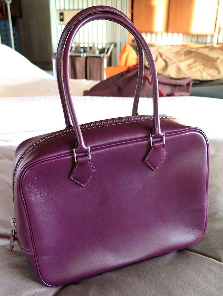 Hermes Raisin Leather Plume Bag-28cm For Sale at 1stdibs