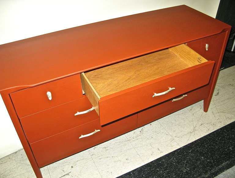 1950 Drexel Dresser W Chinese Red Lacquer Finish At 1stdibs