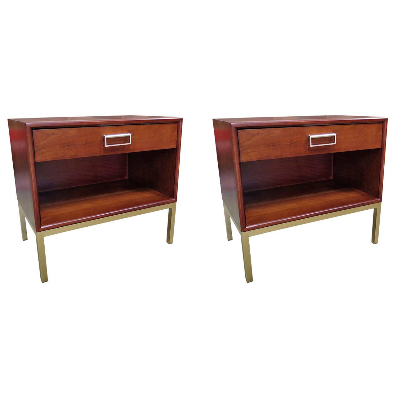 "1950 Drexel ""Sun Coast"" Pair of Night Stands-Kipp Stewart"
