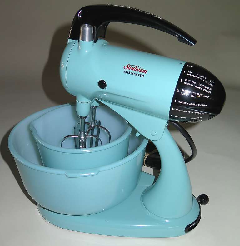 1950 Cool Blue Sunbeam Mixmaster Kitchen Set At 1stdibs