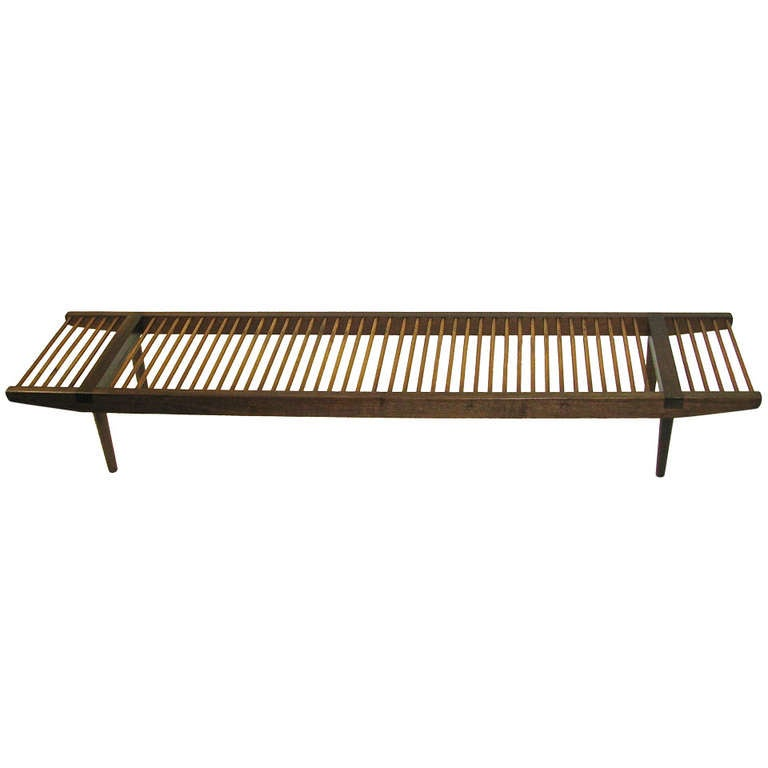 Gorgeous 1960 Milo Baughman Dowel Bench Long Version At